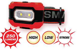 250 Lumen Headlamp with 3 light modes