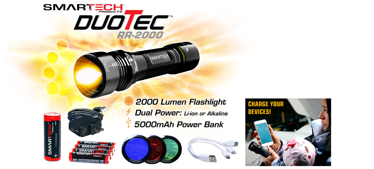 Charge your devices with 2000 lumen flashlight