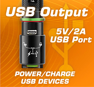 Power/Charge your devices with a USB output
